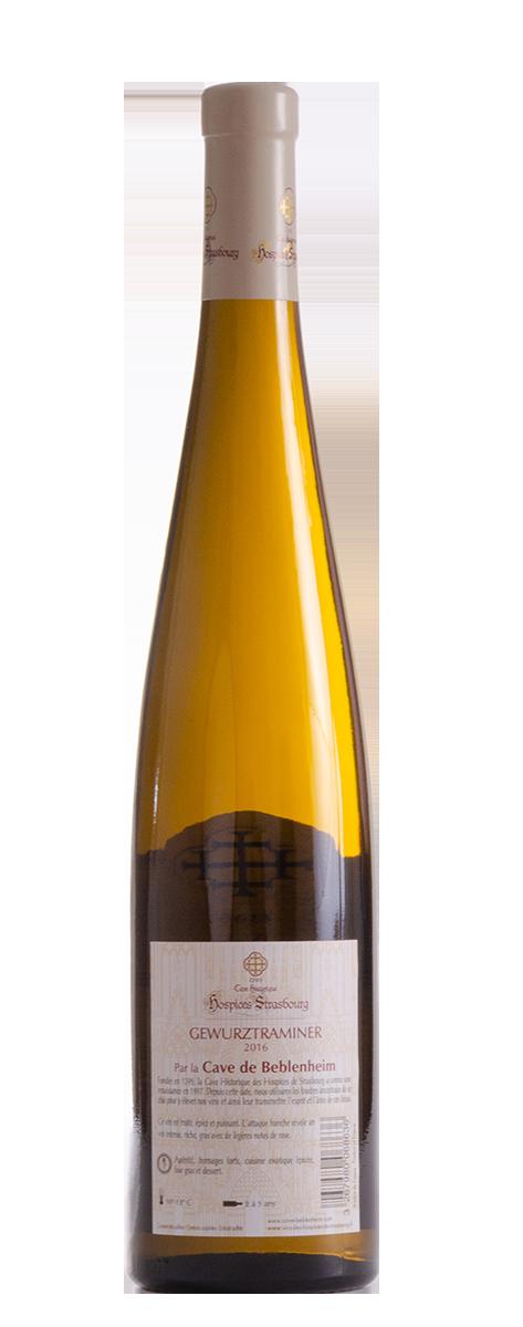 Gewurztraminer 2016 Cave vinicole de Beblenheim